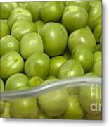 Fresh Green Peas Metal Print