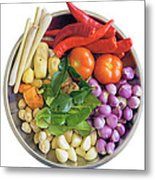 Fresh Ingredients For Cooking Curry Sauce Metal Print