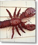 Fresh Maine Lobster Sign Boothbay Harbor Maine Metal Print