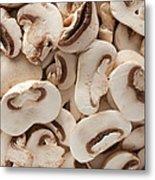 Fresh Mushrooms Metal Print
