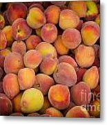 Fresh Peaches On A Street Fair In Brazil Metal Print by Ricardo Lisboa