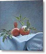 Fresh-picked Pomegranates Metal Print