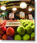 Fresh Pike Place Apples Metal Print