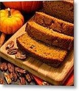 Fresh Pumpkin Bread Metal Print