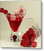 Fresh Raspberry Cosmos Delight Metal Print by Inspired Nature Photography Fine Art Photography