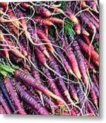 Fresh Red Carrots Metal Print