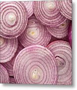 Fresh Red Onion Metal Print