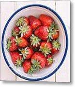 Fresh Strawberries  Metal Print