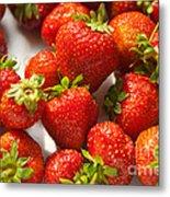 Fresh Strawberry Metal Print