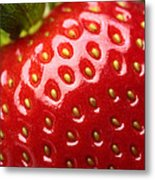 Fresh Strawberry Close-up Metal Print