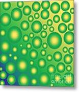 Fresh Tropical Bubbles Metal Print