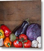 Fresh Vegetables Metal Print