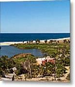 Fresh Water Lagoon At Playa La Poza Metal Print