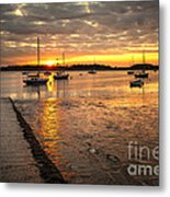 Fresh Water Sunset Metal Print