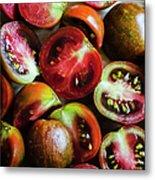 Freshly Cut Tomatoes Metal Print