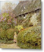 Freshwater Cottage Wc On Paper Metal Print