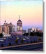 Fresno Skyline Into The Evening Metal Print