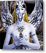 Freya Viking Warrior Metal Print