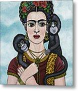 Frida In The Sky Metal Print
