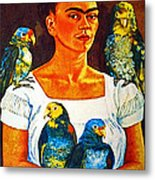 Frida In Tlaquepaque Metal Print