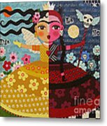 Frida Kahlo Angel Devil Queen Metal Print