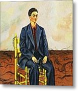 Frida Kahlo Self-portrait With Cropped Hair Autorretrato Con Pelo Cortado Metal Print