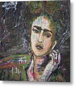 Frida Y Cigarrillos Metal Print