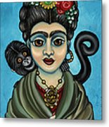 Frida's Monkey Metal Print