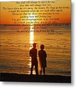 Friend For Life Poem Metal Print