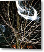 Friendly Invisibles Visiters From Beyond Flying In Over Night Metal Print