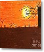 Friendly Sunset Metal Print