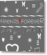 Friends Forever Valentine Metal Print