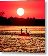 Friends At Long Beach Island Metal Print