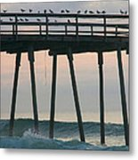 Friends Waiting For Sunrise Metal Print