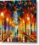 Friendship - Palette Knife Oil Painting On Canvas By Leonid Afremov Metal Print