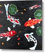 Friendship Underwater Big Commissioned Painting Metal Print