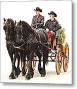 Friesian Carriage Metal Print