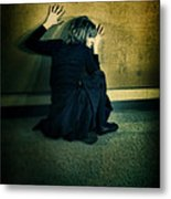Frightened Woman Metal Print