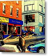 Friperie St.laurent Clothing Variety Dress Shop Downtown Corner Store City Scene Montreal Art Metal Print