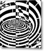 Frisbee Toss Maze  Metal Print