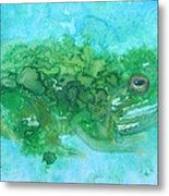 Frog And Fly Blues Metal Print
