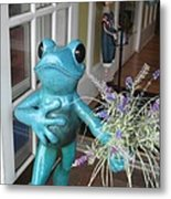 Frog Suitor Metal Print