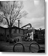 Frog Switch Yard Metal Print
