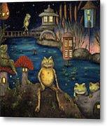 Frogland Metal Print by Leah Saulnier The Painting Maniac