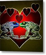 Frogs In Love Metal Print