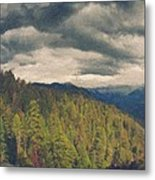 From Moro Rock Of The Sequoias Metal Print