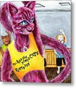 From Purple Cat Illustration 15 Metal Print