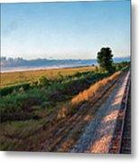 Train Through Illinois Metal Print