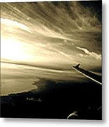 From The Plane Metal Print by Gwyn Newcombe
