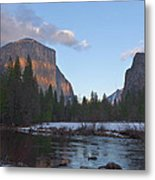 From Valley View At Sunset Metal Print